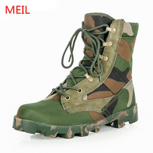 2019 New Hot Military Handsome Breathable Tactical Men Boots Army Combat Camouflage Size 39-46 Safety Shoes