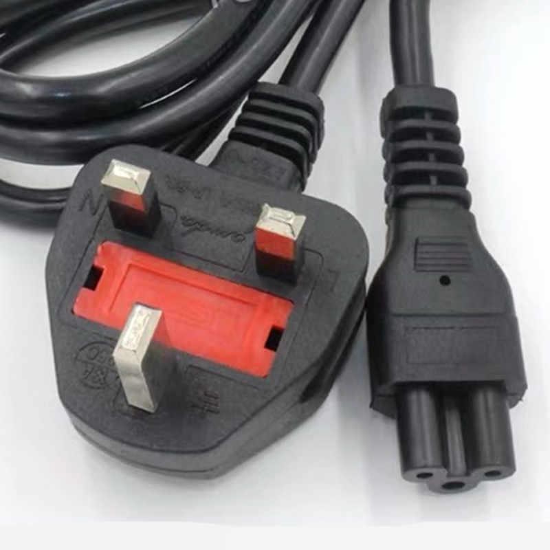 W wielkiej brytanii przewód zasilający brytyjski główne C5 koniczyny zasilania prądem przemiennym (AC) realizacji przedłużacz 1.5 m do laptopa Laptop LG TV