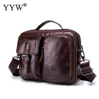BULLCAPTAIN Men Cowhide Bag Leather Briefcase Travel Suitcase Messenger Shoulder Tote Back Handbag Large Business Laptop Pocket