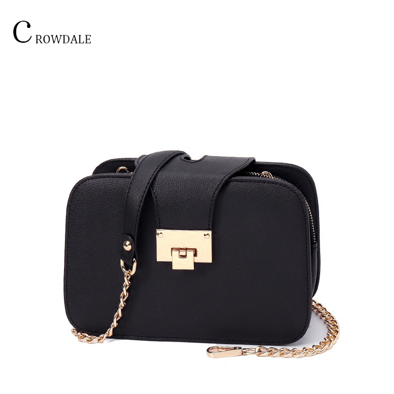 CROWDALE Women Shoulder Bag Chain Strap Flap Designer Handbags Clutch Bag Ladies Messenger Bags With Met 2019 Spring New Fashion
