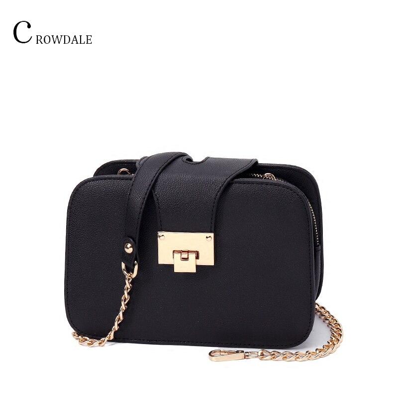 CROWDALE Women Shoulder Bag Chain Strap Flap Designer Handbags Clutch Bag Ladies