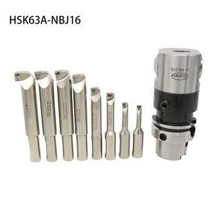 Image 4 - High Precision NBJ16 Boring Head System HSK63A R8 MTA 3 MTA4 MTA5  BT30 BT40 BT50  SK40 NT40 M16 Holder 8pcs 16mm Boring Bar