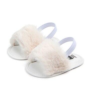 Sepatu Sandal Klasik dengan Bulu 5
