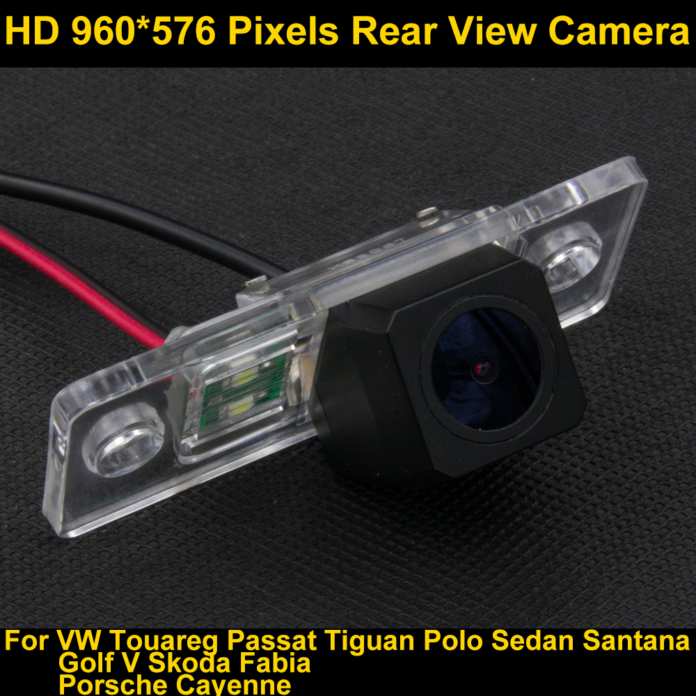 PAL HD 960*576 píxeles cámara de visión trasera para VW Passat B5 2002 2003 2004 2005 2006 2007 2008 2009 2010 Touareg 2008 09