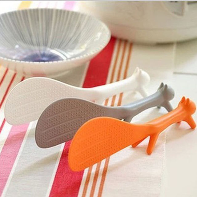 1 PCS Lovely Kitchen Supplie Squirrel Shaped Ladle Non Stick Rice Paddle Meal Spoon