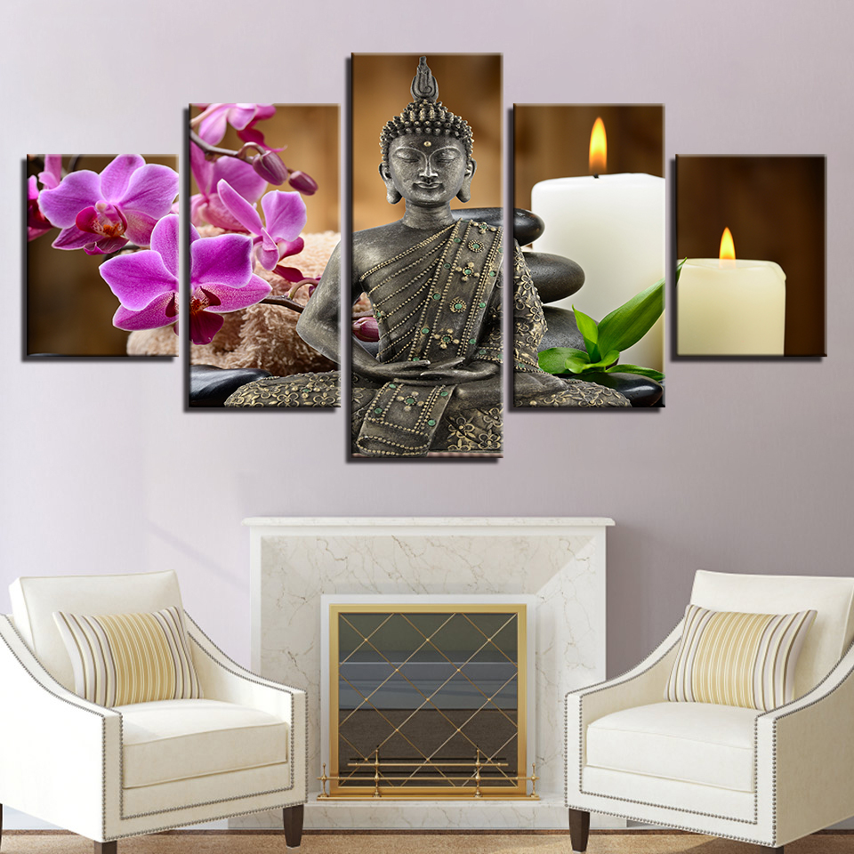 Canvas HD Prints Pictures Home Decor Framework 5 Pieces