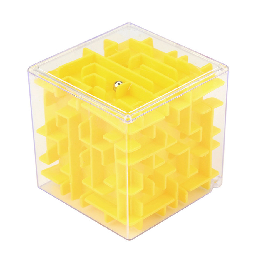 Sozzy 2018 * 3D Cube Puzzle Maze Toy Hand Game Case Box Fun Brain Game Challenge Fidget Toys