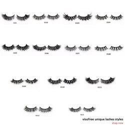 Visofree Eyelashes 3D Mink Lashes Luxury Hand Made Mink Eyelashes High Volume Cruelty Free Mink False Eyelashes Upper Lashes