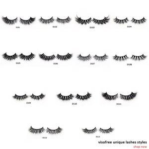 Visofree Eyelashes 3D Mink Lashes Luxury Hand Made Mink Eyelashes High Volume Cruelty Free Mink False Eyelashes Upper Lashes(China)