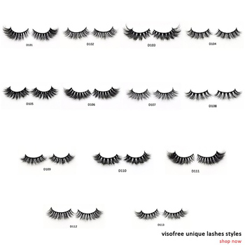 Visofree Eyelashes 3D Mink Lashes Luxury Hand Made Mink Eyelashes High Volume Cruelty Free Mink False Eyelashes Upper Lashes