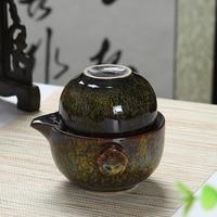 Kiln change to build Kuaike cup kungfu tea set china traveling portable a pot of coarse pottery hand grabbing pot office teacup