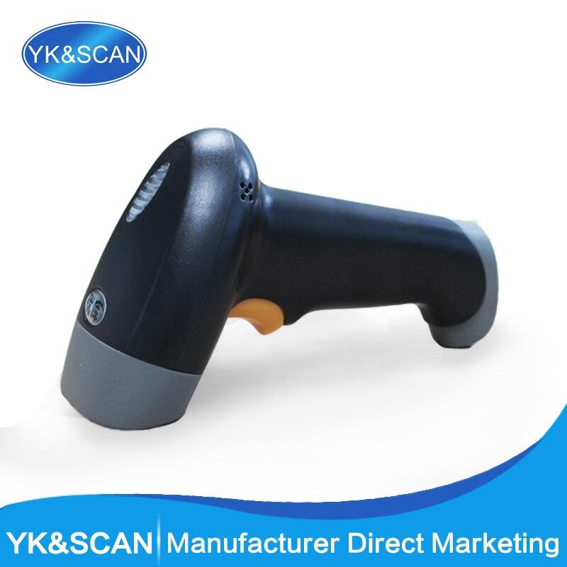 Ручные 1D сканер штрихкодов yk-920 с USB2.0 приемник Бесплатная доставка для pos товара лазерный сканер