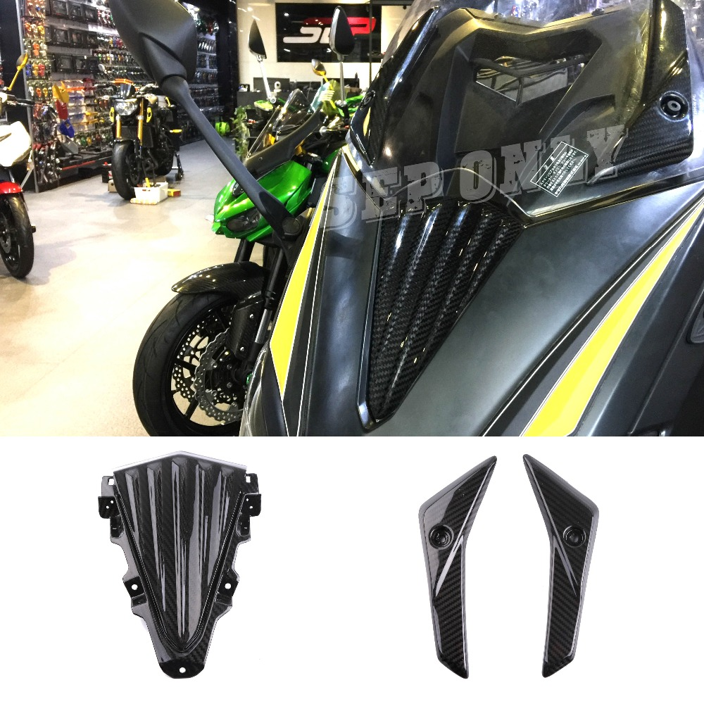 SEP TAMX 530 Motorcycle Carbon Fiber Panel Fairing Windshield Windscreen Nose Cover For Yamaha Tmax530 Tmax 530 feu led tmax 530