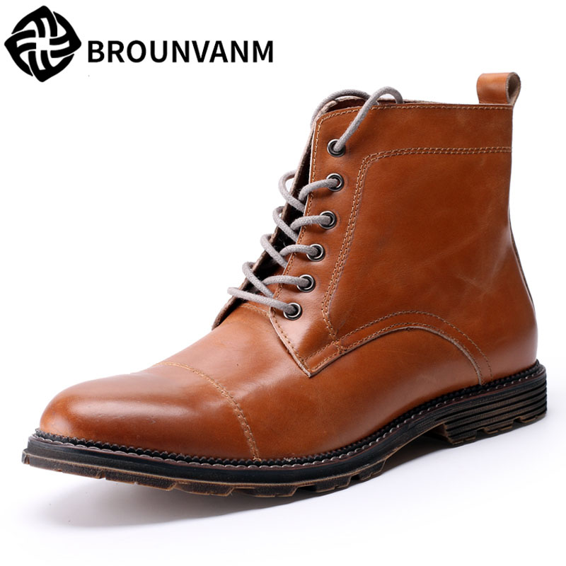 все цены на Free shipping song for Martin boots men boots boots men fall rhubarb men boots British high Bangzhen retro shoes leather shoes онлайн