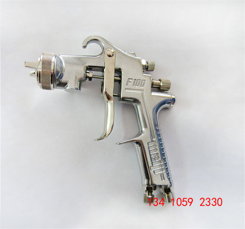 Image 2 - free shipping,original Japan F 100 gravity Meiji Spray Gun, F100 painting gun, 1.0 1.3 1.5mm nozzle size to choose, car painting-in Spray Guns from Tools