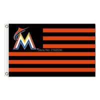 America Us Design Miami Marlins Flag World Series Champions Baseball Super Team Fan Team Banners Flags Banner 3x5 Ft Marlin