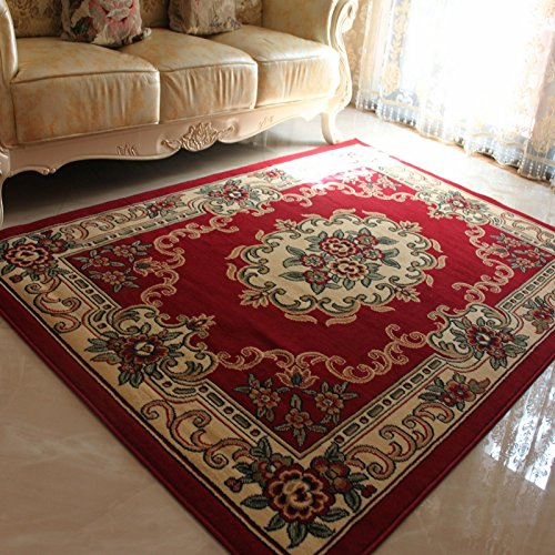 Tapis floraux tissés européens de Jacquard, chambre à coucher rustique de luxe de tapis Floral, tapis et tapis modernes pour le salon à la maison