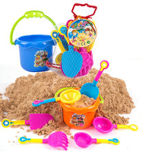 9 pieces kids Beach Toys sandbox toys set summer toy for kids Sand Play Toys With A Cool No Lens Sunglasses(China)