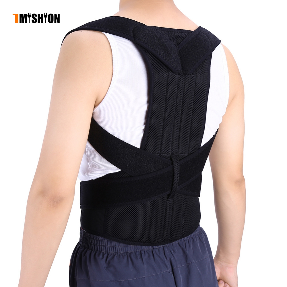 все цены на Adjustable Posture Corrector Back Brace Support Shoulder Back Belt Lumbar Braces Spine Support Corset Belt Posture Correction онлайн