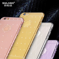 Rhinestone Case For IPhone 7 Case Glitter Ultra Slim Transparent Soft Case Luxury Case For IPhone