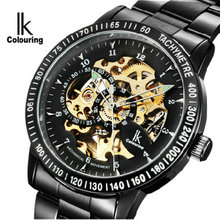 Ik for fully-automatic male watch mechanical watch waterproof Men cutout fashion commercial men's watch