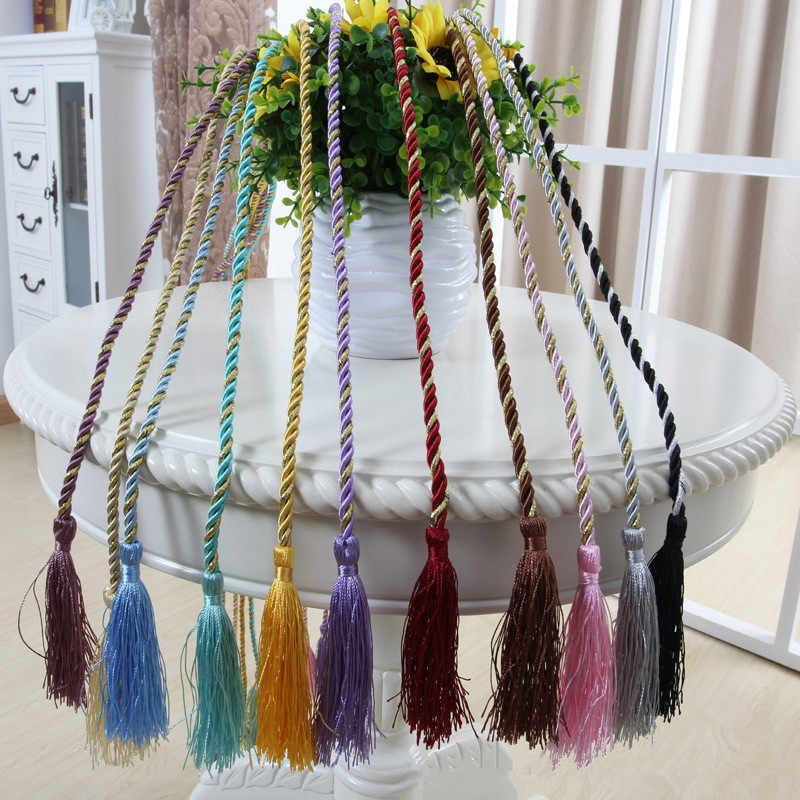 15 Colors Window Cotton Rope Tie Backs Curtain Fringe Tiebacks Room Tassel Decor