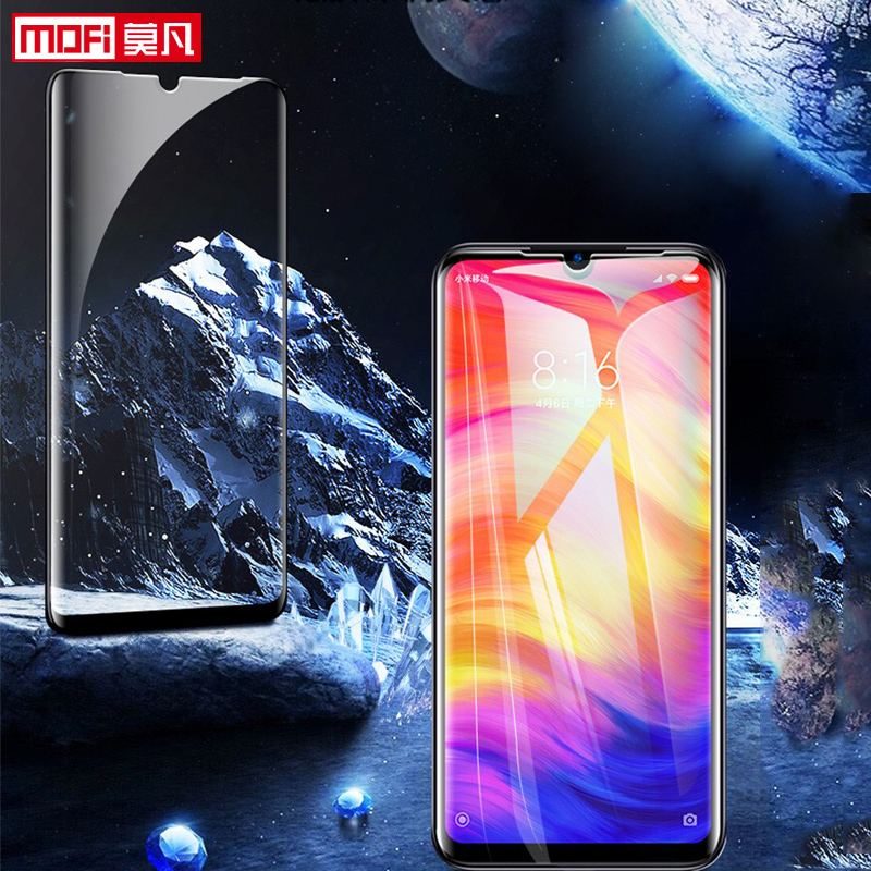 screen protector for xiaomi redmi 7 tempered glass xiaomi redmi y3 full cover full glue mofi ultra thin Redmi 7 protection film-in Phone Screen Protectors from Cellphones & Telecommunications