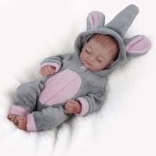 NPKDOLL Mini Reborn Baby Doll Lifelike silicone Bath toys fo
