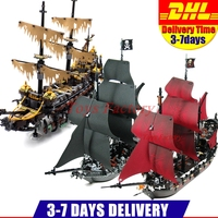 LEPIN 16042 2344PCS Pirate Of The Caribbean The Slient Mary Set 16006 The Black Pearl Ship