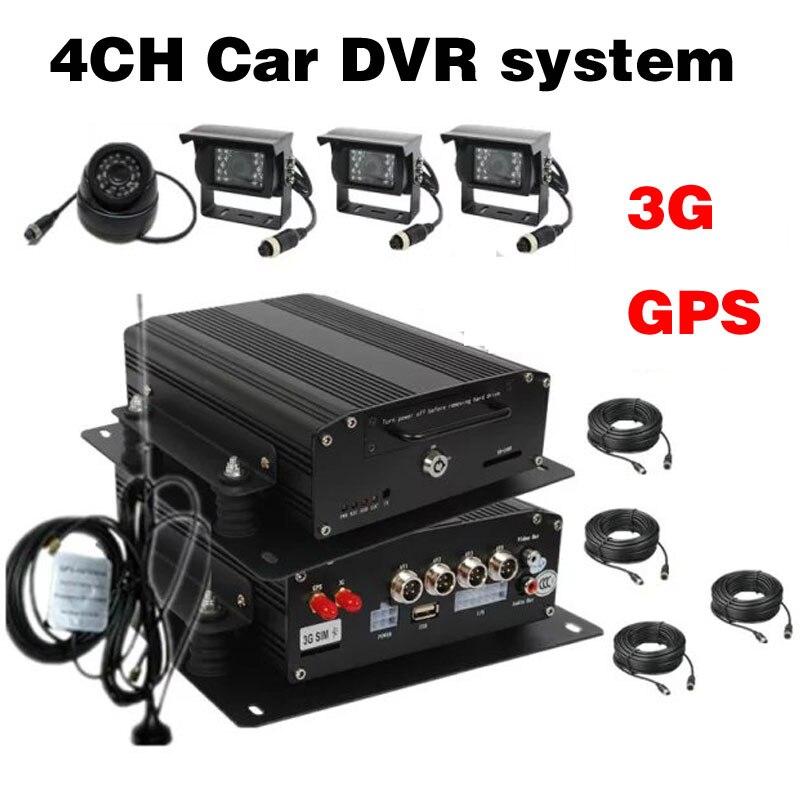 4Ch H.264 Car Vehicle Mobile DVR 3G GPS Car MDVR Waterproof IR AHD Camera 1200TVL Car DVR System