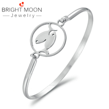 Bright Moon Simple 12 Constellations Stainless Steel Bracelets Men Charm Casual Bangles Jewelry Gift