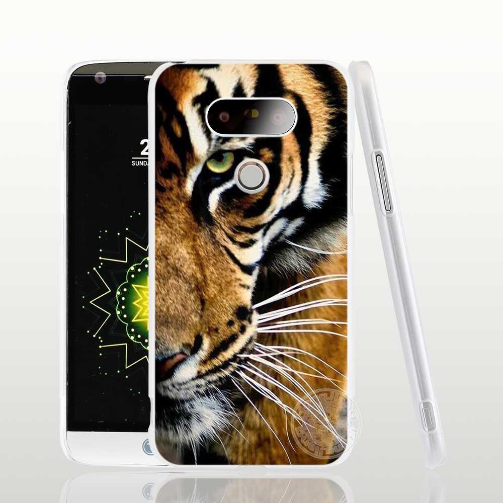 HAMEINUO encantadora fuerte León Tigre Animal de la cubierta del teléfono del caso para LG G6 G5 K10 K7 K4 magna espíritu