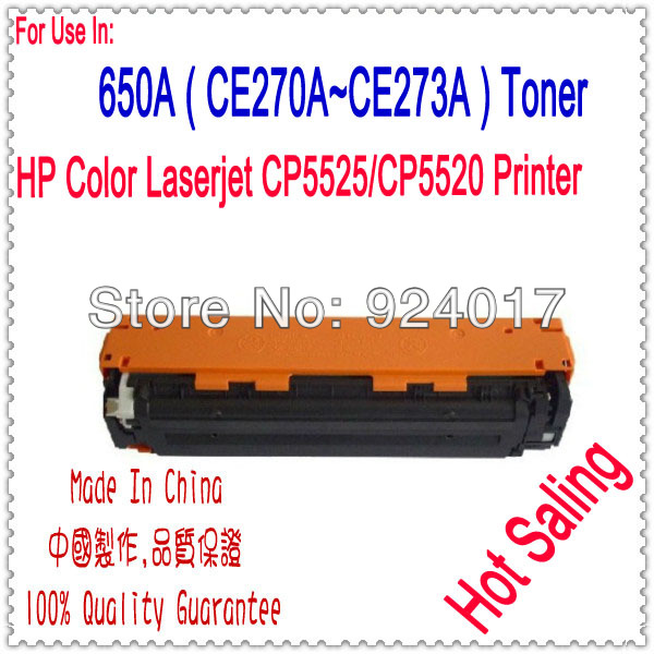 Toner For HP Color Laserjet CP5525 CP5520 Printer,650A CE270A CE271A CE272A CE273A Toner Cartridge For HP Printer,For HP 5525 toner refill for hp color laserjet cm6030 cm6040 printer for hp toner cb380a cb381a cb382 83a cb390a cm 6030 6040 toner for hp