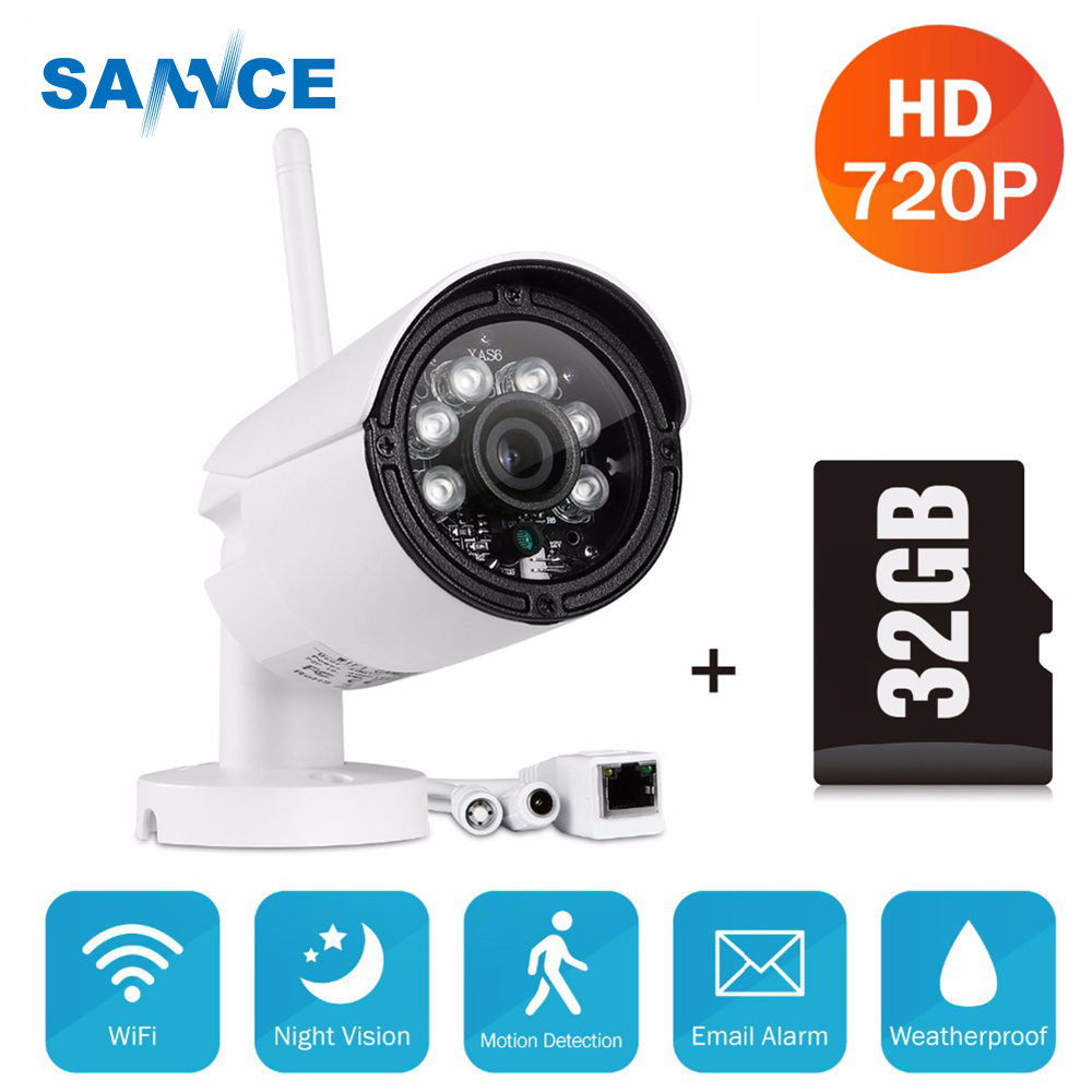 SANNCE P2P 720P wifi ip camera hd 720p wireless bullet IP camera IR-Cut Night Vision 1.0MP Video Surveillance Security Camera все цены