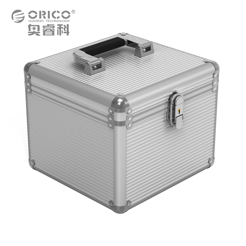 Orico Original 5PCS 3.5 Inch HDD Protection Box With EVA Built In Buffer  Sponge Silver Storage Case