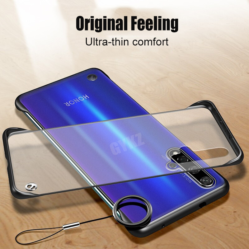 GYKZ Luxury Transparent Case For Huawei Honor 20 Pro Ultra thin Luxury frameless Phone Case For Honor 20 Pro in Fitted Cases from Cellphones Telecommunications