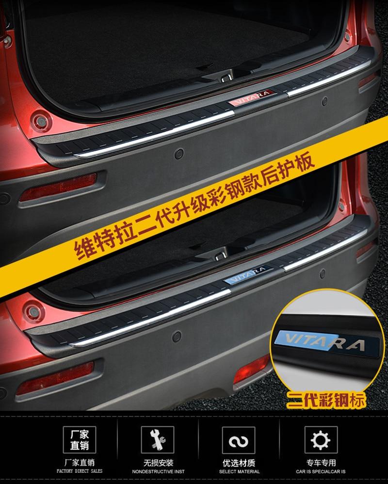 ABS задний бампер протектор Подоконник Магистральные протектора плиты отделкой для Suzuki Vitara 2015 2016 2017 стайлинга автомобилей