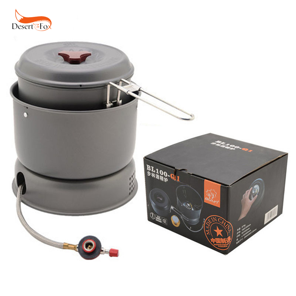 Outdoor Gas Stove and Alcohol Stove Portable Cookware Set Cooking Pots Gas Stove Camping Burner Camping Stove