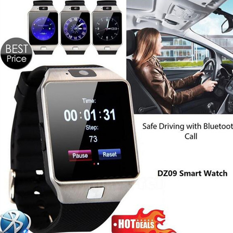 696 Hot Selling Bluetooth Smart Watch dz09 SmartWatch For Apple Android/IOS Phone Wearable Watchs Men Smart Mobile Phone Syn SIM illumine 2016 hot sale dgb 400 bluetooth smart watch intelligent smartwatch for android mobile phone killer remote camera