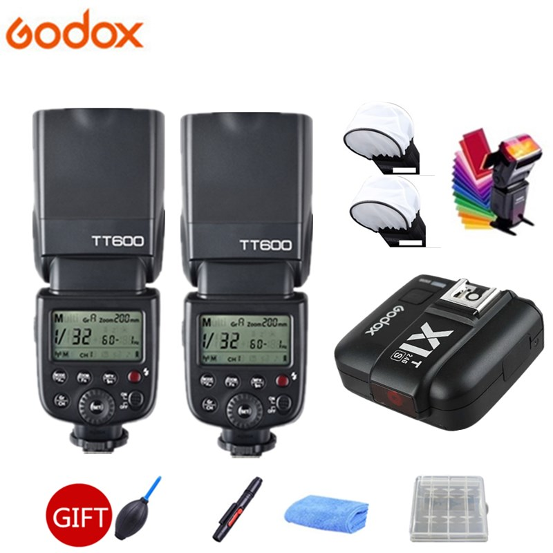 2x Godox TT600s HSS GN60 2.4G Camera Flash Speedlite + X1T-S Transmitter for Sony A7 A7S A7R A7 II A6000 A58 A99 + GIFT KIT2x Godox TT600s HSS GN60 2.4G Camera Flash Speedlite + X1T-S Transmitter for Sony A7 A7S A7R A7 II A6000 A58 A99 + GIFT KIT