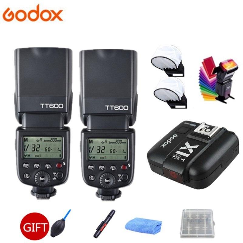 2x Godox TT600s HSS GN60 2.4g Caméra Flash Speedlite + X1T-S Émetteur pour Sony A7 A7S A7R A7 II a6000 A58 A99 + CADEAU KIT
