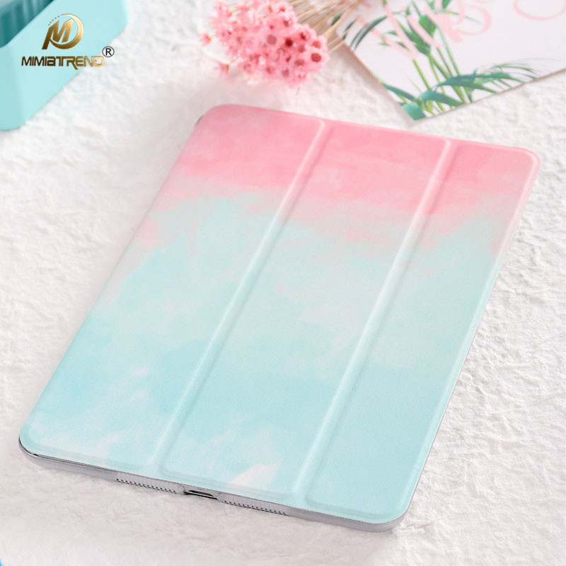 Mimiatrend Case for New iPad 9.7 12.9 inch 2017, Color PU Smart Cover Case Magnet wake up sleep For iPad Mini 1 2 3 4 5 Air Air2