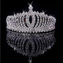 Стильные Стразы, тиара, детский обруч для волос, корона, для девочек, лето, высокое качество, кристалл, серебро, ювелирное изделие, бриллиант для девочек