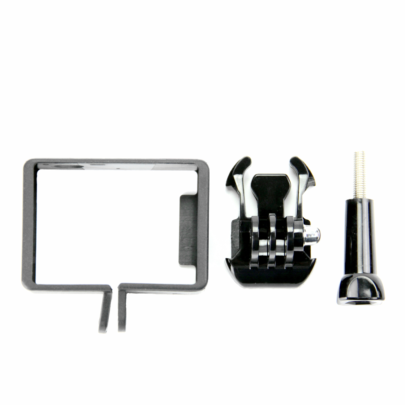 SnowHu for Gopro accessories Standard Protective Frame Mount Base Long Screw for Go Pro Hero 7 6 5 4 Camera GP71 in Sports Camcorder Cases from Consumer Electronics