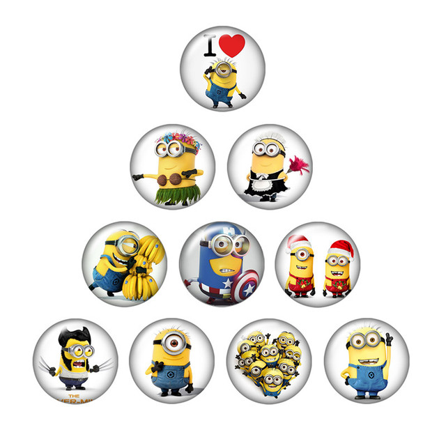 Despicable Me Minion Glass Snap Buttons