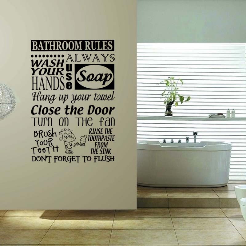 hot art lavanderia bagno vasca da bagno adesivi murali complementi arredo casa wc decalcomania diy rimovibile