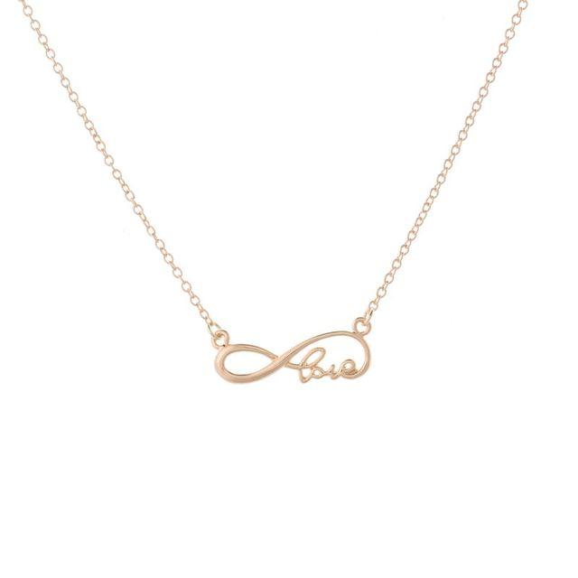 smjel new couple infinity love letter necklace eternity necklace