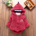 Warm Winter Baby Infants Girls Children Kids Hooded Cartoons Velvet Thicken Snow Wear Jacket Outwear Parkas Coat Casaco
