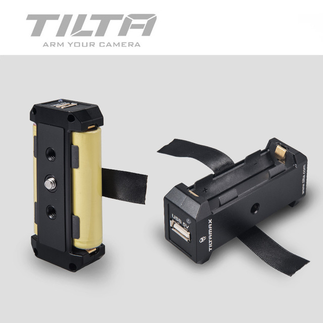 Tilta 18650 Power Supply Box WLC-T04-BP-18650 with USB 5V and DC 8V Power Output for BMPCC 4K Camera Cage Follow Focus MotorTilta 18650 Power Supply Box WLC-T04-BP-18650 with USB 5V and DC 8V Power Output for BMPCC 4K Camera Cage Follow Focus Motor