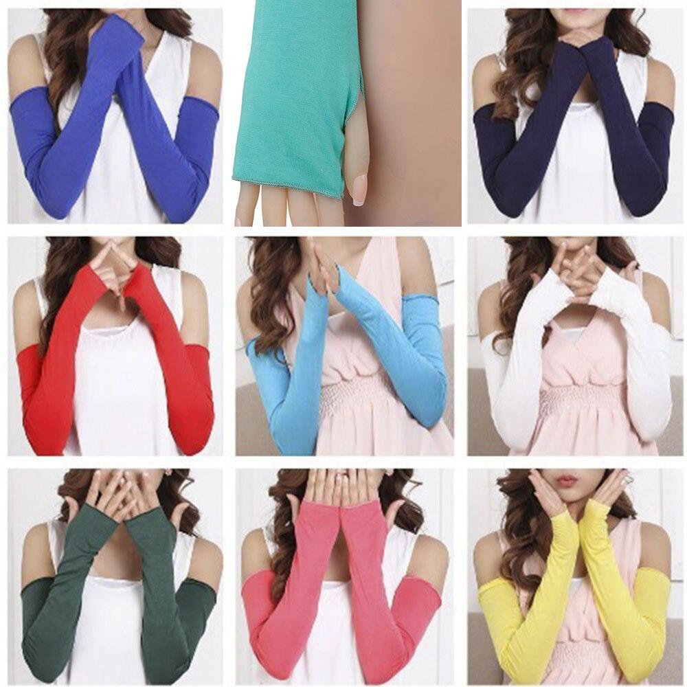 1 Paar 19 Farben Cosy Frauen Mädchen Arm Wärmer Baumwolle Lange Finger Handschuhe Mode Kleidung Zubehör Das Ganze System StäRken Und StäRken